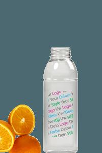 bedrijfslogo blikje productnaam uniek flesje